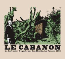 Le Corbusier Cabanon Vintage Architecture T shirt by pohcsneb