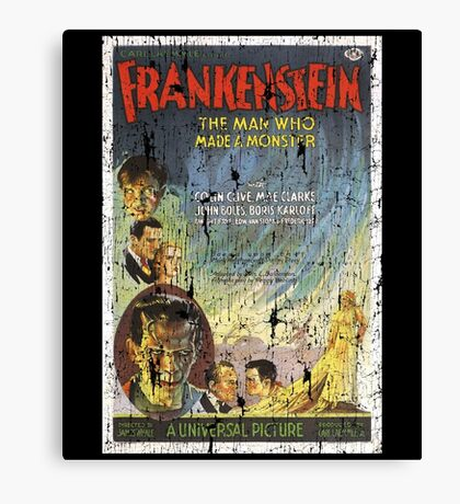 Frankenstein Boris Karloff Movie Vintage Poster Canvas Print