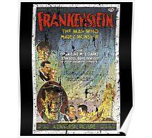 Frankenstein Boris Karloff Movie Vintage Poster Poster