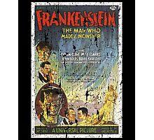 Frankenstein Boris Karloff Movie Vintage Poster Photographic Print