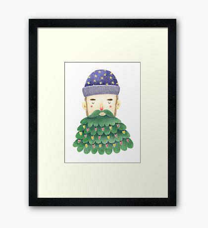 Hipster Christmas Framed Print