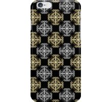 Silver and Gold Flourishes on Black iPhone Case/Skin