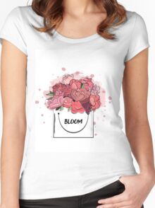 Flower box Women's Fitted Scoop T-Shirt
