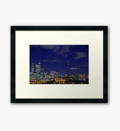 Lunar Eclipse - Perth Western Australia  Framed Print
