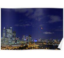 Lunar Eclipse - Perth Western Australia  Poster
