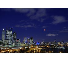 Lunar Eclipse - Perth Western Australia  Photographic Print