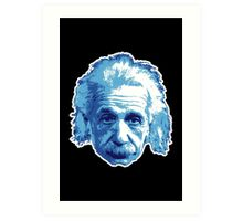 Albert Einstein - Theoretical Physicist - Blue Art Print