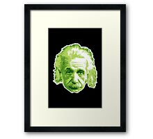 Albert Einstein - Theoretical Physicist - Green Framed Print