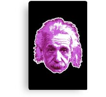 Albert Einstein - Theoretical Physicist - Pink Canvas Print