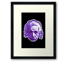 Albert Einstein - Theoretical Physicist - Purple Framed Print