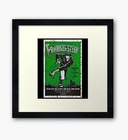 Frankenstein Boris Karloff Movie Vintage Poster Framed Print