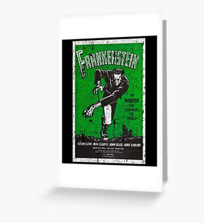 Frankenstein Boris Karloff Movie Vintage Poster Greeting Card