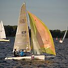 Mid-week Regatta, Stralsund, Baltic Sea, Germany. by David A. L. Davies
