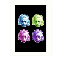 Albert Einstein - Theoretical Physicist - Rainbow Art Print
