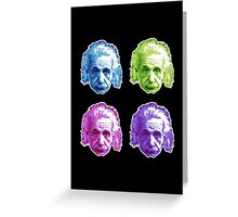 Albert Einstein - Theoretical Physicist - Rainbow Greeting Card
