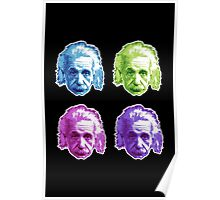 Albert Einstein - Theoretical Physicist - Rainbow Poster