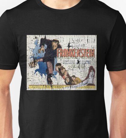 Frankenstein Boris Karloff Movie Vintage Poster Unisex T-Shirt