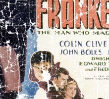 Frankenstein Boris Karloff Movie Vintage Poster Sticker
