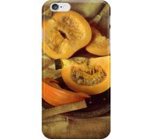 Still life with fresh pumpkins iPhone Case/Skin