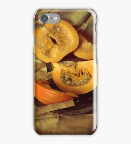 Still life with fresh pumpkins iPhone Case/Skin
