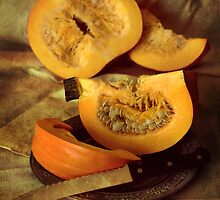 Still life with fresh pumpkins by JBlaminsky