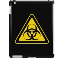 Biohazard Symbol Warning Sign - Yellow & Black - Triangular iPad Case/Skin