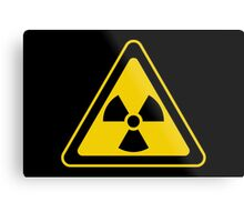 Radioactive Symbol Warning Sign - Radioactivity - Radiation - Yellow & Black - Triangular Metal Print