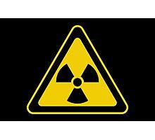 Radioactive Symbol Warning Sign - Radioactivity - Radiation - Yellow & Black - Triangular Photographic Print
