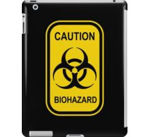 Caution Biohazard Sign - Yellow & Black - Rectangular iPad Case/Skin