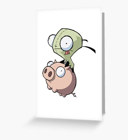Invader Zim Greeting Card