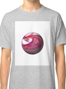 Abstract Red Globe Classic T-Shirt