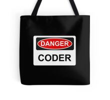 Danger Coder - Warning Sign Tote Bag