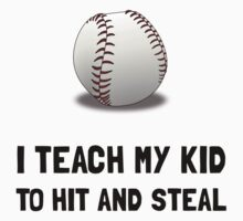 Hit And Steal Baseball Kids Clothes