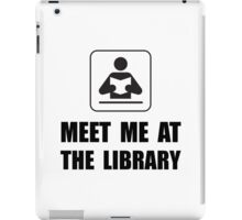 Meet Me At Library iPad Case/Skin