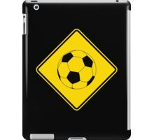 Soccer - Football - Footy - Traffic Sign - Diamond iPad Case/Skin