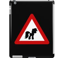 Pony Traffic Sign - Triangular iPad Case/Skin