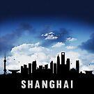Shanghai China Skyline Cityscape Nightfall by T-ShirtsGifts