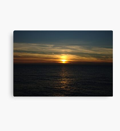 Sunset on the sea red sky ! Canvas Print