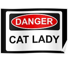 Danger Cat Lady - Warning Sign Poster