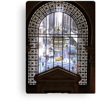 Window in the New York Public Library, NY Canvas Print