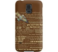 Firefly quotes Samsung Galaxy Case/Skin