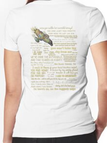 Firefly quotes Women's Fitted V-Neck T-Shirt