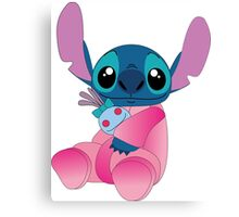 Cute stitch in pajamas Canvas Print