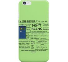 Dr Who quotes iPhone Case/Skin