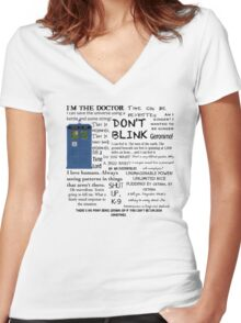 Dr Who quotes Women's Fitted V-Neck T-Shirt