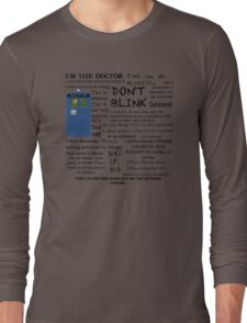 Dr Who quotes Long Sleeve T-Shirt