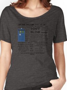 Dr Who quotes Women's Relaxed Fit T-Shirt