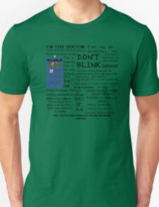 Dr Who quotes Unisex T-Shirt