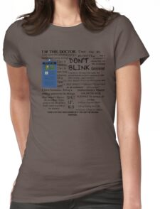 Dr Who quotes Womens Fitted T-Shirt
