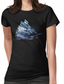 cloud sailing ship Womens Fitted T-Shirt